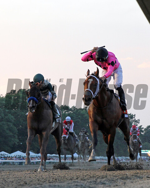 Maximum Security with Luis Saez win the 52nd Running of the Haskell Invitational (GI) at Monmouth Park on July 20, 2019 over Mucho Gusto with Joe Talamo. Photo: Chad B. Harmon