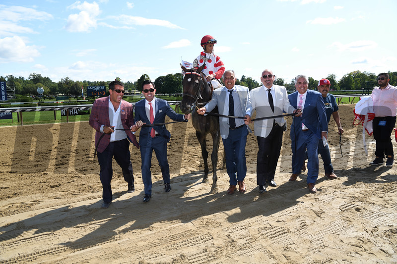 Mind Control wins the 2019 H. Allen Jerkens Stakes at Saratoga. Photo: Coglianese Photos
