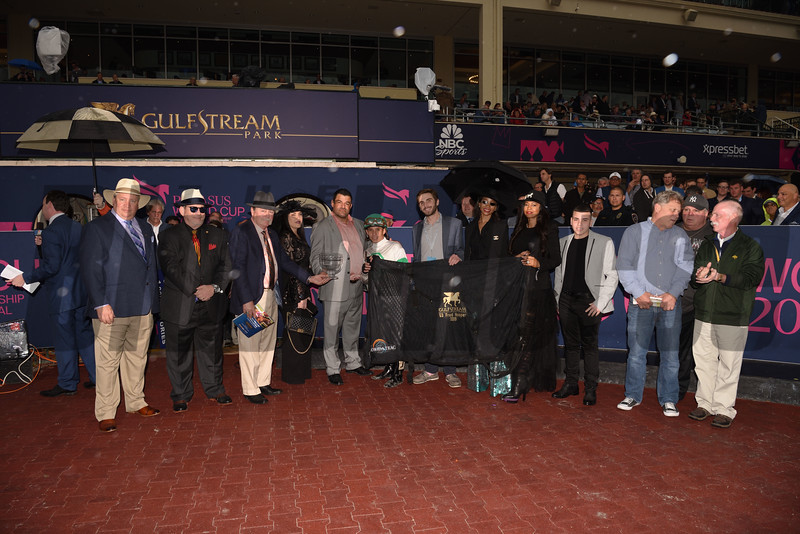 Aztec Sense wins the 2019 Fred W. Hooper Stakes at Gulfstream Park <br /> Coglianese Photos