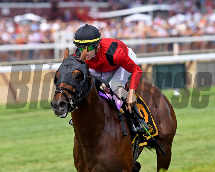 Leinster wins the 2019 Troy Stakes at Saratoga<br /> Coglianese Photos/Chelsea Durand