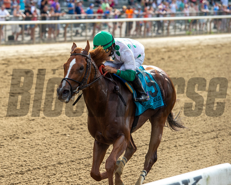 Promises Fulfilled wins the 2019 John A. Nerud Stakes at Belmont Park<br /> Coglianese Photos/Chelsea Durand