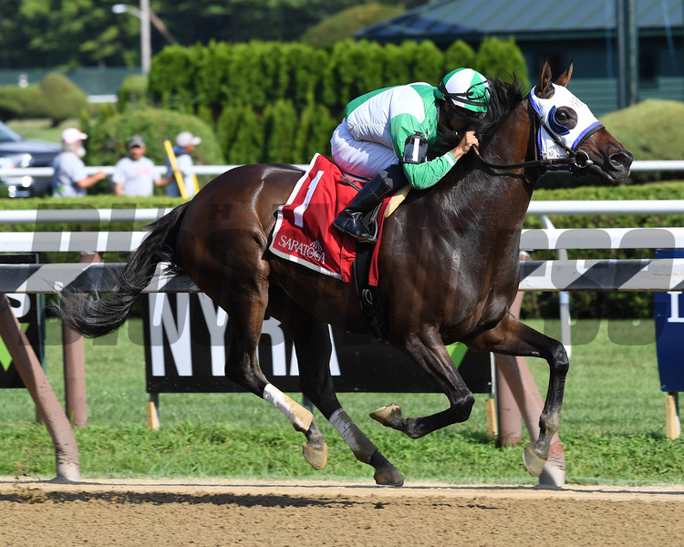 Out of Orbit wins the 2019 Saratoga Dew Stakes at Saratoga<br /> Coglianese Photos