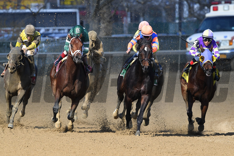 Life's a Parlay wins the 2019 Excelsior Stakes at Aqueduct. Photo: Coglianese Photos/Rob Mauhar