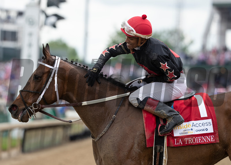 She's A Julie and Ricardo Santana, Jr. winning the La Troienne at Churchill Downs on May 3rd, 2019.