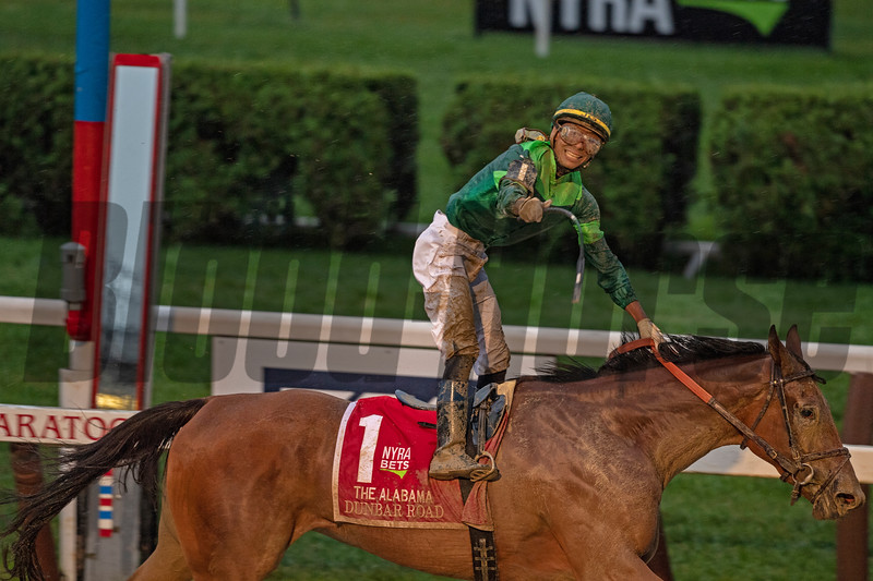 Dunbar Road with Jose L Ortiz wins The Alabama  @ Saratoga Race Course   in Saratoga NY. Aug 17 2019; <br /> Joe DiOrio Photo