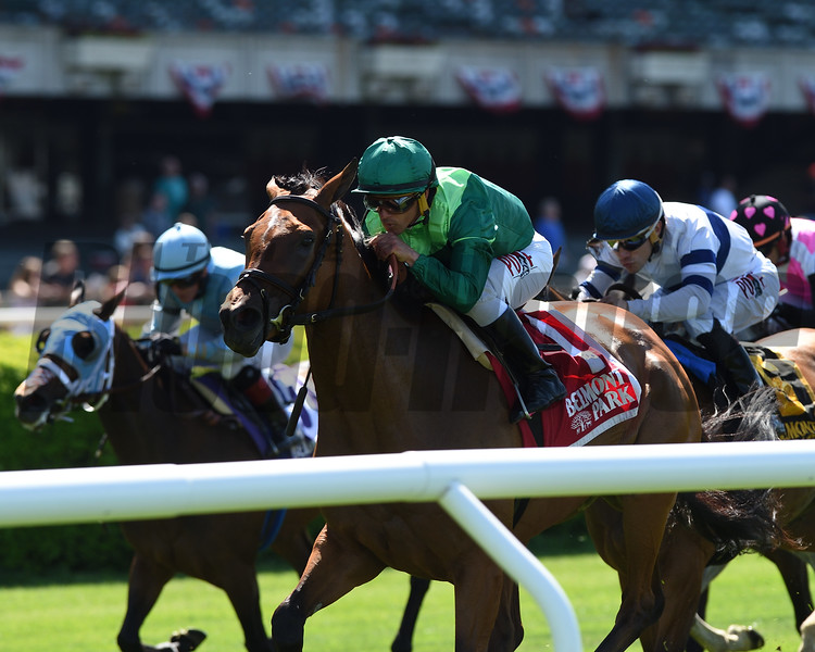 Fifty Five wins the Mount Vernon Stakes Monday, May 27, 2019 at Belmont Park. Photo: Coglianese Photos/Chelsea Durand
