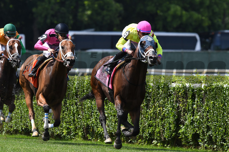 World of Trouble wins the 2019 Jaipur Stakes at Belmont Park<br /> Coglianese Photos/Robert Mauhar