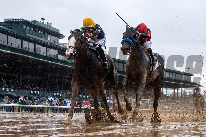 Fancy Dress Party Luis Saez wins the 2019 Beaumont for trainer Ben Colebrook and owner LNJ Foxwoods, 2019 Keeneland Spring Meet