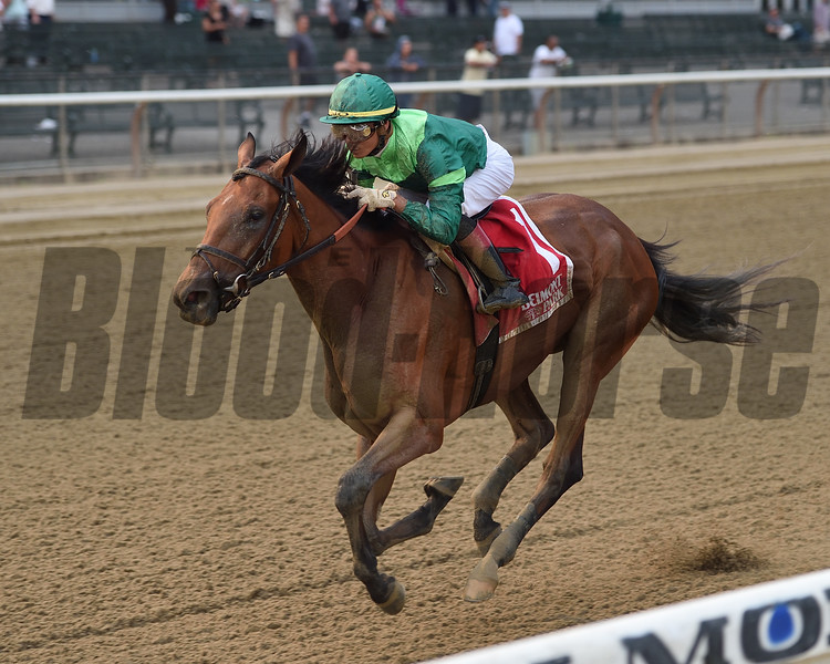 Dunbar Road wins the 2019 Mother Goose Stakes at Belmont Park<br /> Coglianese Photos/Elsa Lorieul