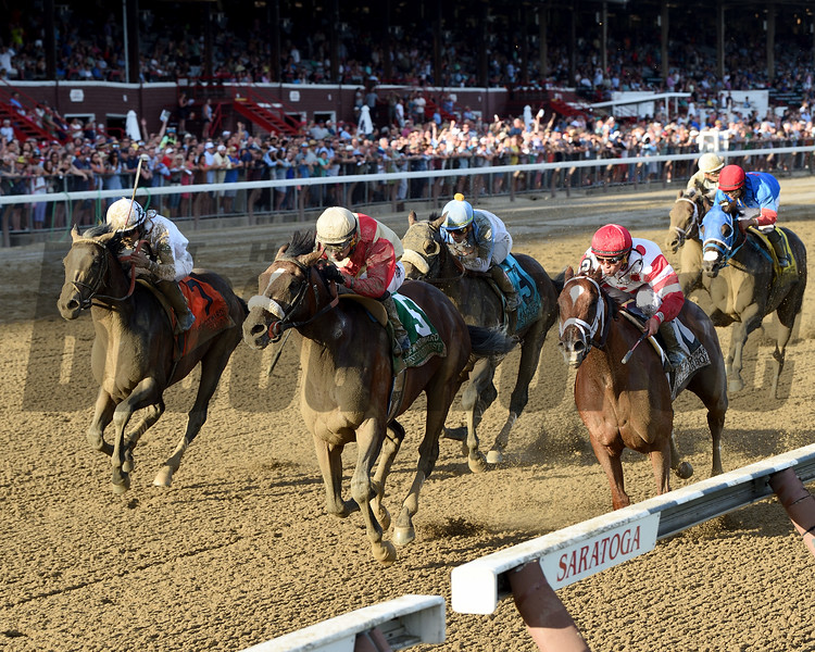 Preservationist wins the 2019 Woodward Stakes at Saratoga. Photo: Coglianese Photos/Chelsea Durand