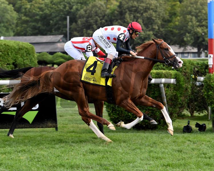 Global Access wins the 2019 Saranac Stakes at Saratoga       <br /> Coglianese Photos/Susie Raisher