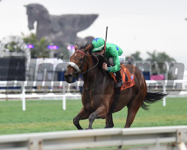 Si Que Es Buena wins the 2019 La Prevoyante Stakes at Gulfstream Park<br /> Coglianese Photos/Lauren King