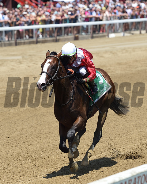 By Your Side wins the 2019 Sanford Stakes at Saratoga<br /> Coglianese Photos/Chelsea Durand