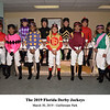 2019 Florida Derby Jockeys<br /> Coglianese Photos