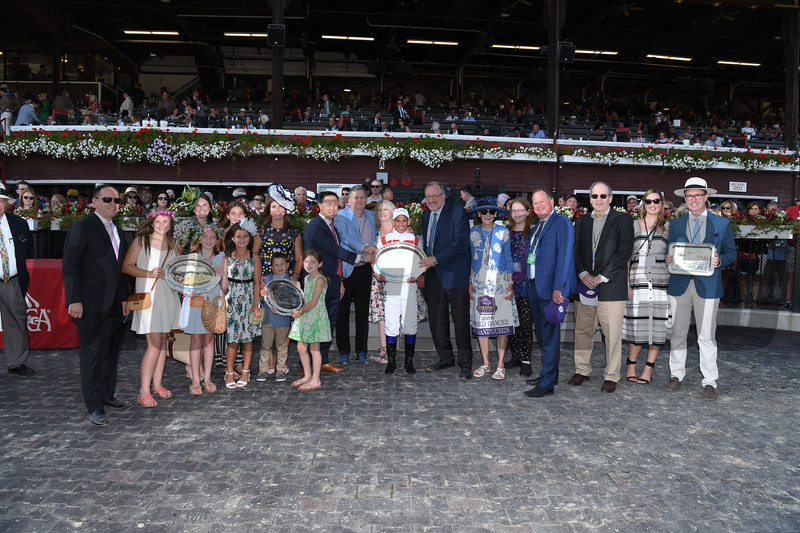 Annals of Time wins the 2019 Sword Dancer at Saratoga. Photo: Coglianese Photos