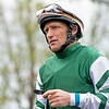 James Graham on Straitouttapopcornat Keeneland on Saturday, April 13, 2019.