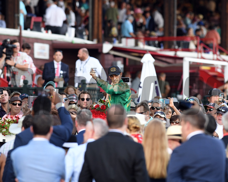 Code of Honor wins 2019 Travers Stakes at Saratoga. Photo: Coglianese Photos/Derbe Glass