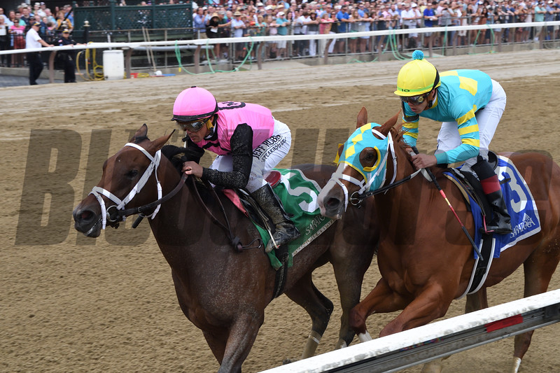 Fierce Lady wins the 2019 Seeking the Ante Stakes<br /> Coglianese Photos/Chelsea Durand