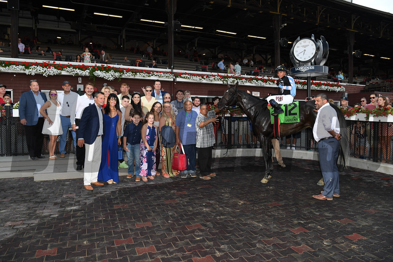 Shancelot wins the Amsterdam Stakes Sunday, July 28, 2019 at Saratoga. Photo: Coglianese Photos