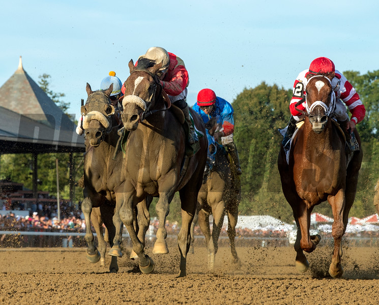 Preservationist ridden by Junior Alvarado holds off the competition to win the 66th running of The Woodward at the Saratoga Race Course Saturday August 31, 2019 in Saratoga Springs, N.Y.  Photo by Skip Dickstein/Tim Lanahan
