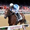 Newly Minted wins the 2019 Fleet Indian Stakes at Saratoga<br /> Coglianese Photos/Joe Labozzetta