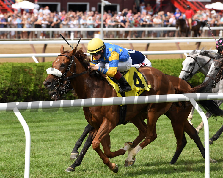 Belle of the Spa wins the 2019 Yaddo Stakes at Saratoga<br /> Coglianese Photos/Joe Labozzetta