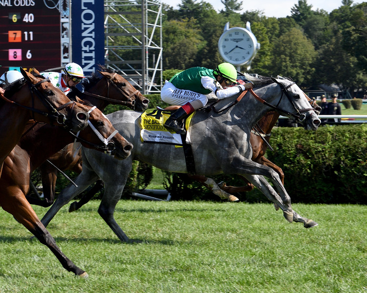 Significant Form wins the 2019 Ballston Spa Stakes at Saratoga<br /> Coglianese Photos/Susie Raisher