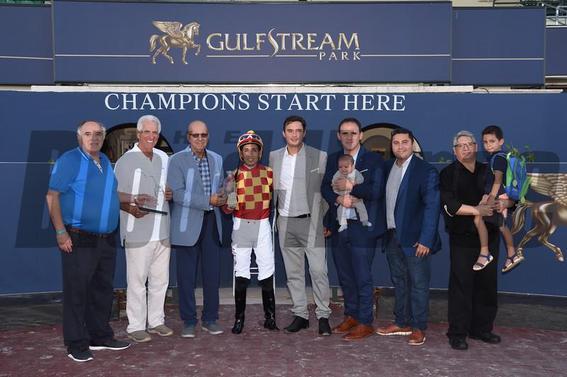 Graceful Kitten wins the 2019 Proud Man Stakes at Gulfstream Park. Photo: Coglianese Photos/Lauren King