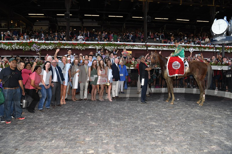 Code of Honor wins 2019 Travers Stakes at Saratoga. Photo: Coglianese Photos