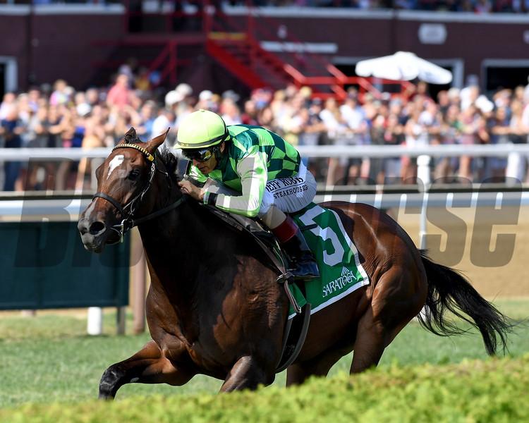 Kimari wins the 2019 Bolton Landing Stakes at Saratoga<br /> Coglianese Photos/Chelsea Durand