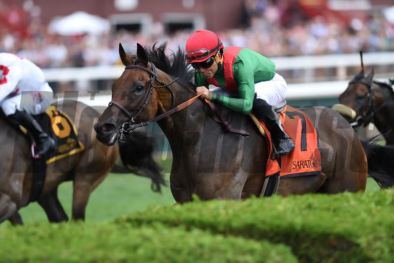 Oleksandra wins the 2019 Smart N Fancy Stakes at Saratoga<br /> Coglianese Photos