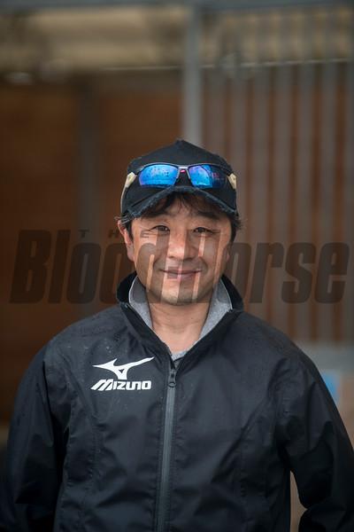 Takanori Kikuzawa. trainer .   @ Gulfstream Park. Jan 20th 2019<br /> ©JoeDiOrio/Winningimages.biz