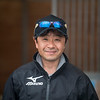 Takanori Kikuzawa. trainer .   @ Gulfstream Park. Jan 20th 2019<br /> ©JoeDiOrio/Winningimages.biz