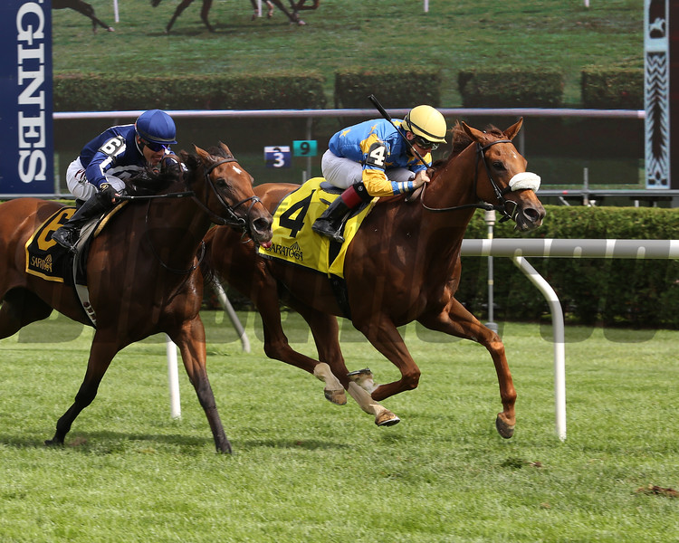 Belle of the Spa wins the 2019 Yaddo Stakes at Saratoga<br /> Coglianese Photos/Taylor Ejdys