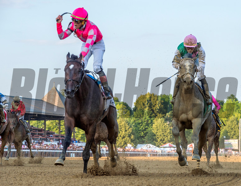 Tax with jockey Irad Ortiz Jr. wins the 56th running of the Jim Dandy Saturday July 27, 2019at the Saratoga Race Course in Saratoga Springs, N.Y. Photo: Skip Dickstein
