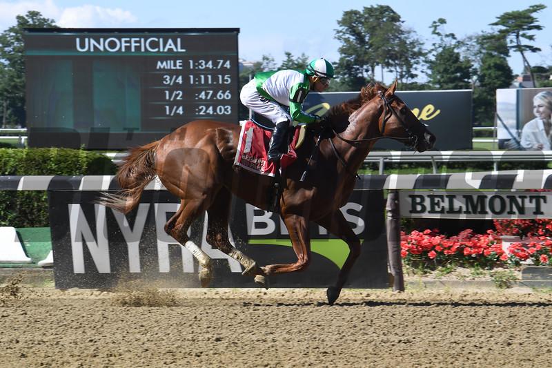 Mr. Buff wins the Saginaw Stakes Sunday, June 30, 2019 at Belmont Park. Photo: Coglianese Photos/Susie Raisher