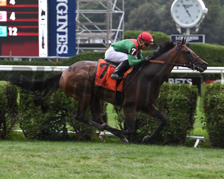 Oleksandra wins the 2019 Smart n Fancy Stakes at Saratoga. Photo: Coglianese Photos