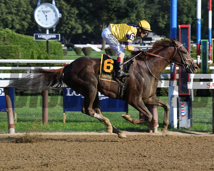 King Zachary wins the 2019 Birdstone Stakes at Saratoga<br /> Coglianese Photos/Susie Raisher