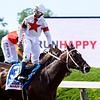 Mitole ridden by jockey Riccardo Santana Jr. wins the 126th running of The Runhappy Metropolitan (G!) at Belmont Park Saturday June 8, 2019 in Elmont, N.Y.  Photo by Skip Dickstein