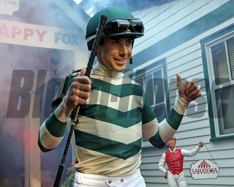 Joe Talamo - Jockey Introductions prior to the 150th Running of the Travers (GI) at Saratoga on August 24, 2019. Photo By: Chad B. Harmon