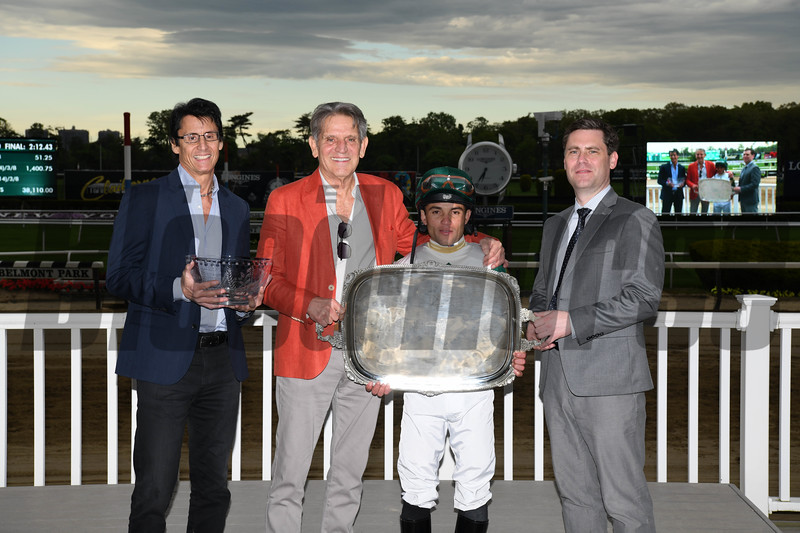 Channel Maker wins the Man o' War Stakes Saturday, May 11, 2019 at Belmont Park. Photo: Coglianese Photos