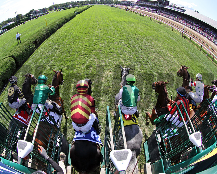 The start of the 31st Running of The Ballston Spa (GII) at Saratoga on August 24, 2019. Photo By: Chad B. Harmon