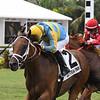 Cowboy's Hero wins the Mecke Stakes Sunday, July 7, 2019 at Gulfstream Park. Photo: Coglianese Photos/Ryan Thompson