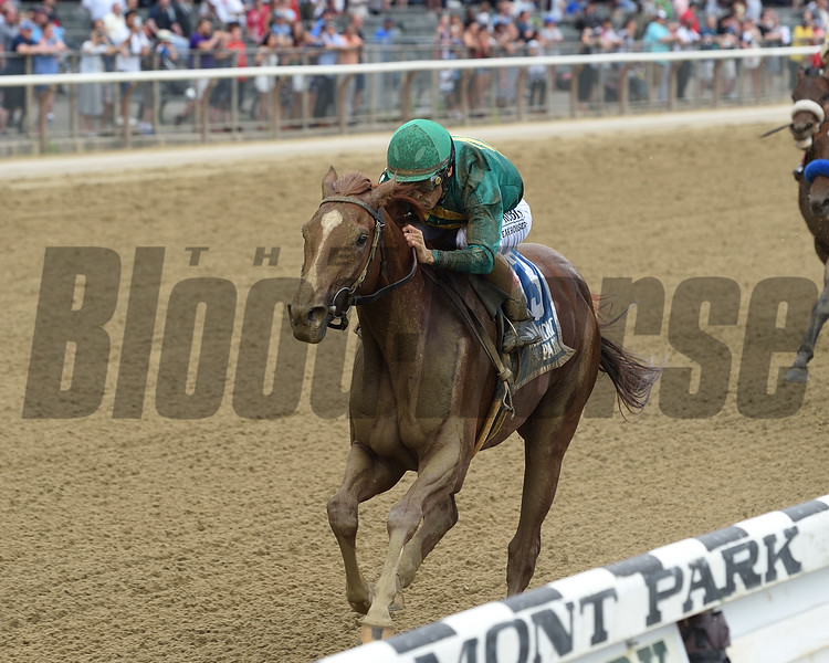 Code of Honor wins the 2019 Dwyer Stakes at Belmont Park<br /> Coglianese Photos/Chelsea Durand