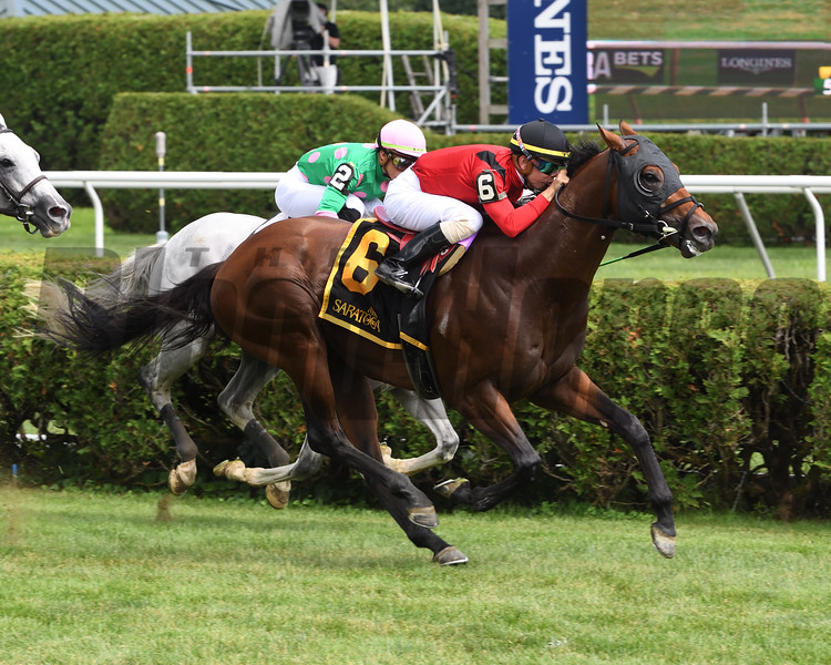 Leinster wins the 2019 Troy Stakes at Saratoga<br /> Coglianese Photos/Janet Garaguso