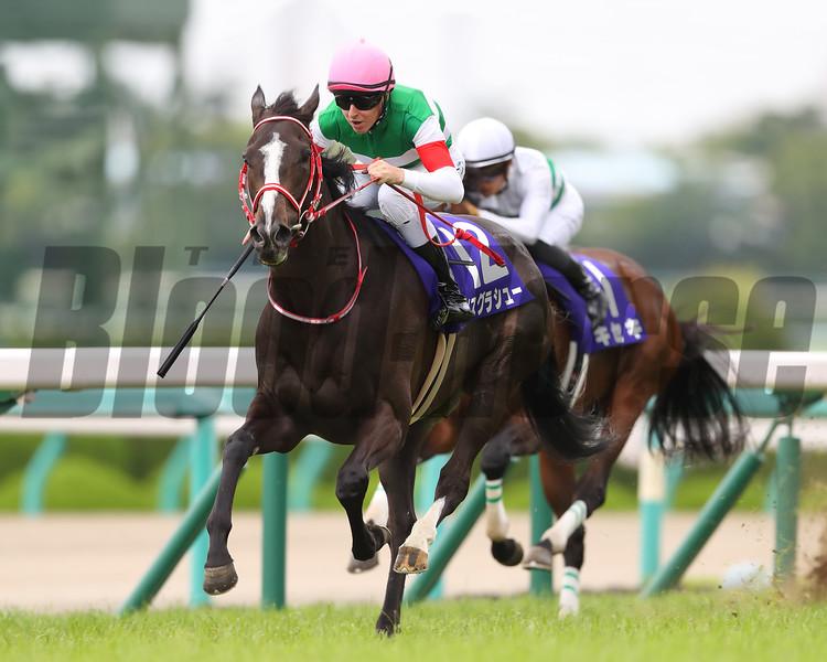 Lys Gracieux wins 2019 Takarazuka Kinen at Hanshin Racecourse. Photo: Masakazu Takahashi