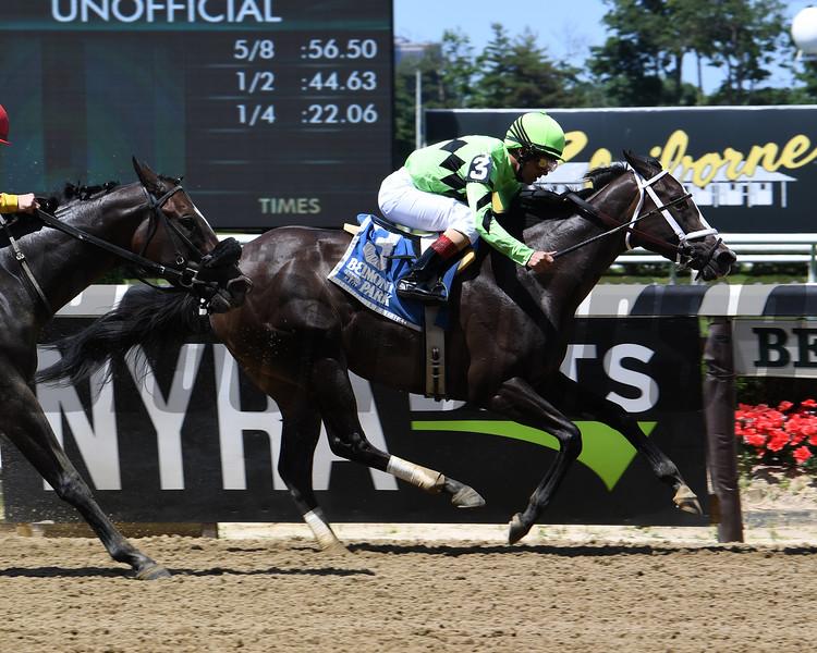 Break Even wins the Jersey Girl Stakes Sunday, June 9, 2019 at Belmont Park. Photo: Coglianese Photos/Susie Raisher