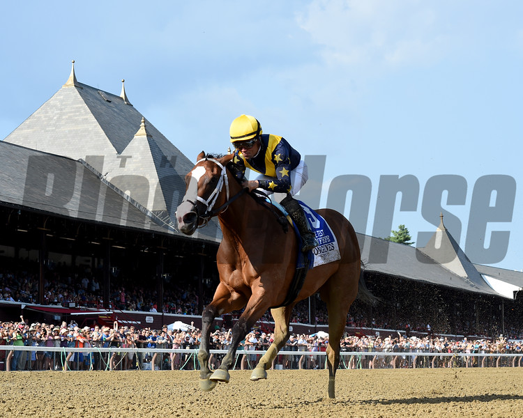 Covfefe wins the 2019 Test Stakes at Saratoga<br /> Coglianese Photos