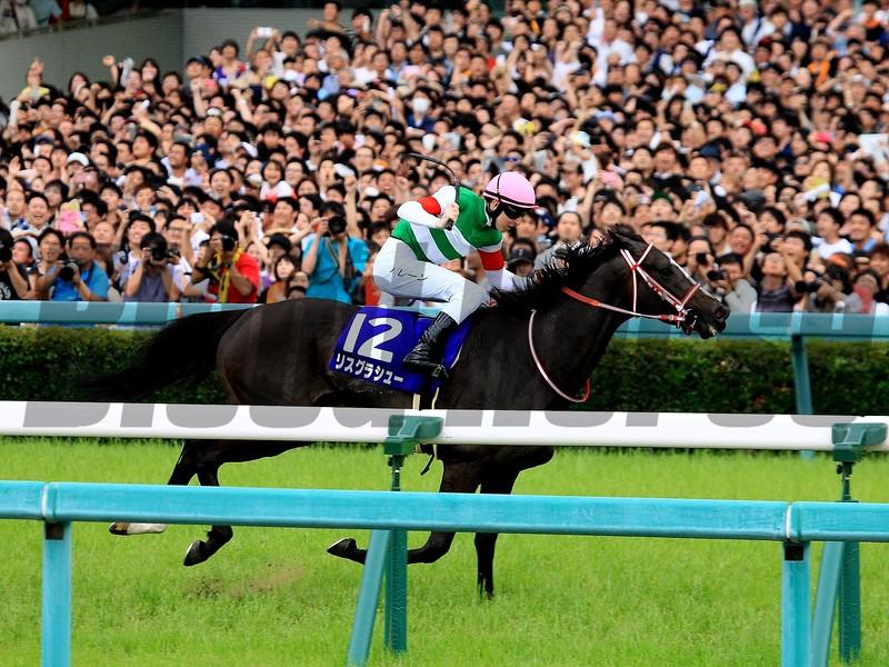 Lys Gracieux wins 2019 Takarazuka Kinen at Hanshin Racecourse. Photo: Naoji Inada