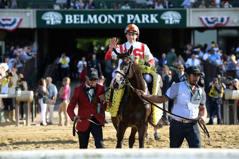 Bricks and Mortar wins the 2019 Manhattan Stakes<br /> Coglianese Photos/Joe Labozzetta